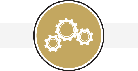 Icon with gears image
